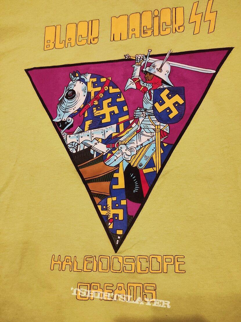 Unique handpainted Black Magick SS Kaleidoscope Dreams oversized girly tshirt