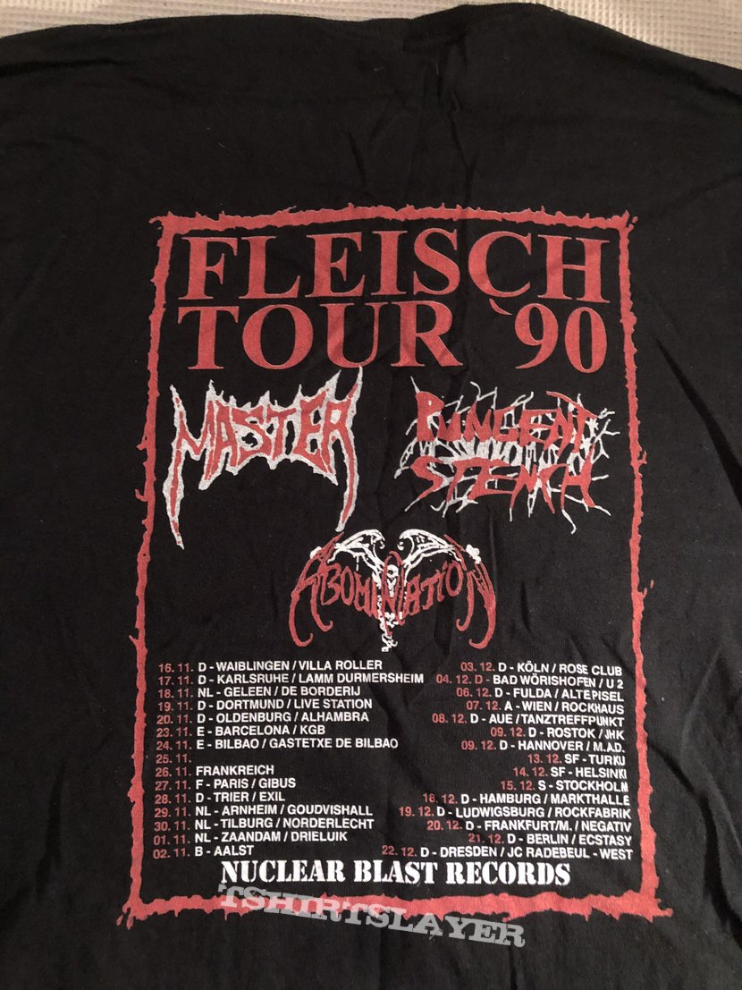 Pungent stench Fleisch tour 1990 reprint