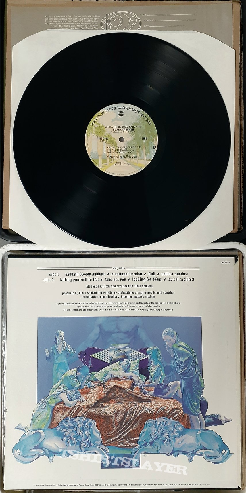 Black Sabbath/ Sabbath Bloody Sabbath/ lp w/ poster/ U.S. Pressing (1973)