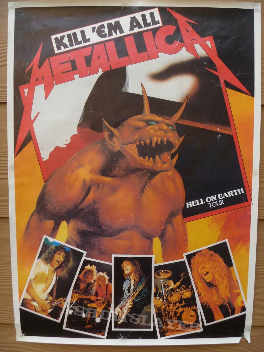 Metallica Hell On Earth Tour Poster Tshirtslayer