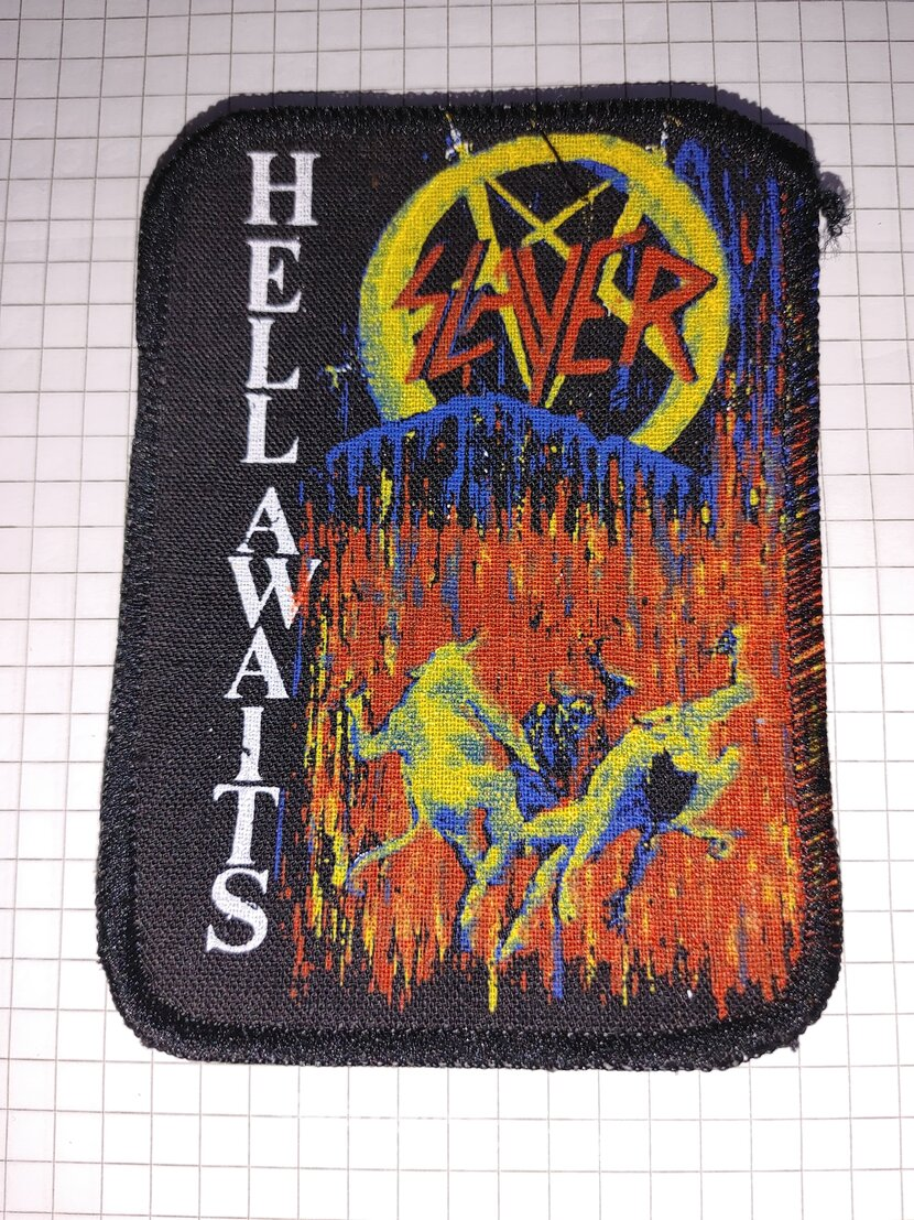 Slayer hell awaits patch screen printing