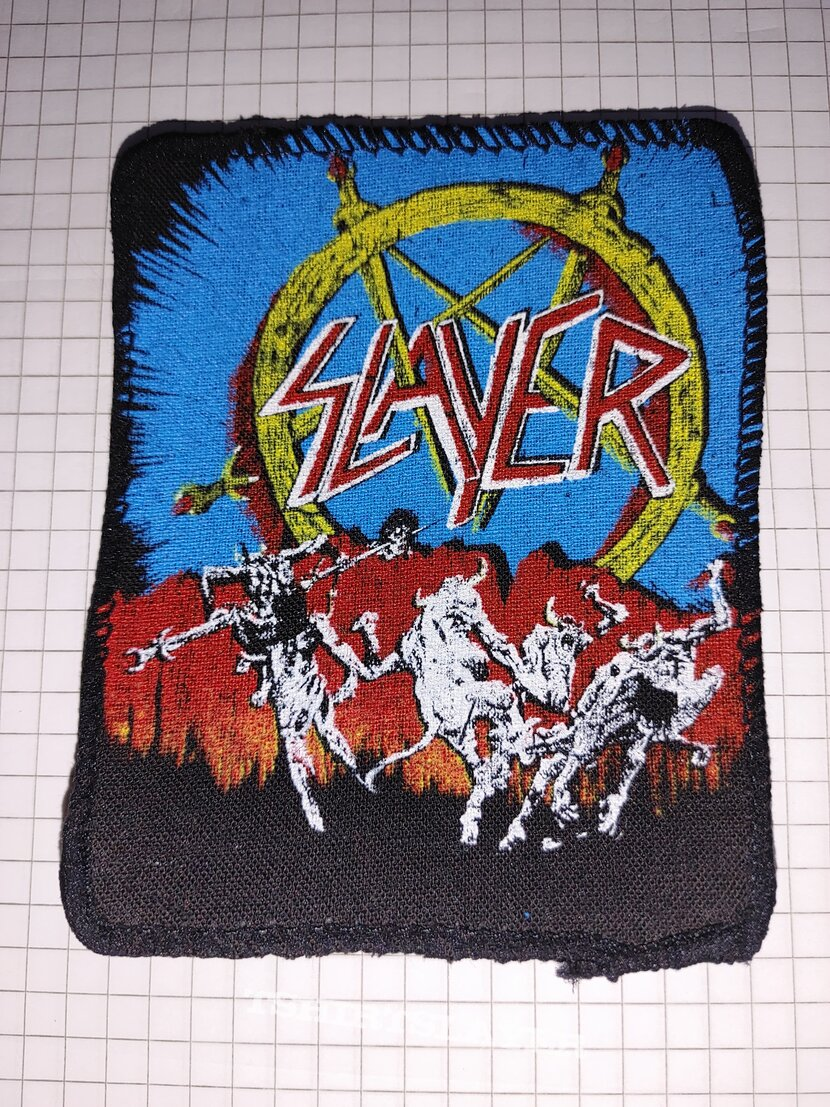 Slayer hell awaits patch screen printing 1111