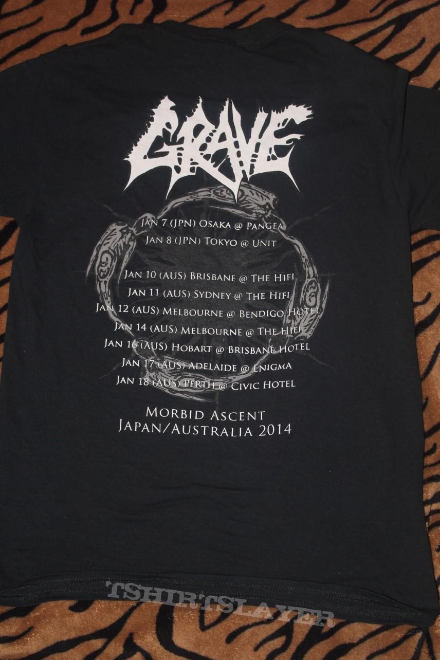 Grave - Japan/Australia 2014 tour shirt