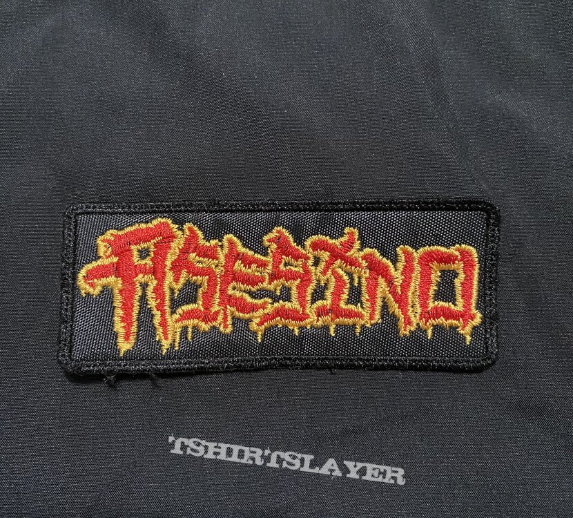 Asesino embroidered logo patch