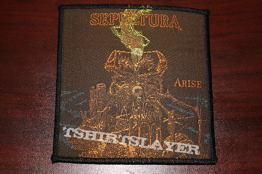 SEPULTURA - Arise Patch - Original Blue Grape Merchandising from 1991 - Near Mint Condition