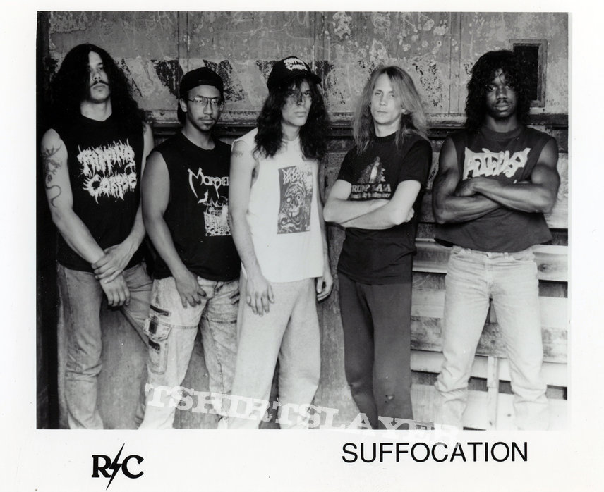 SUFFOCATION - Original Promo Sedcard from 1992 - Size 5'' x 7''