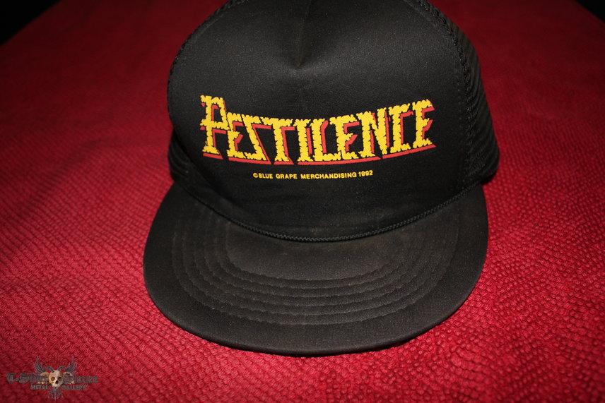 PESTILENCE - 1992 Official Snapback Baseball Cap © Blue Grape Merchandising