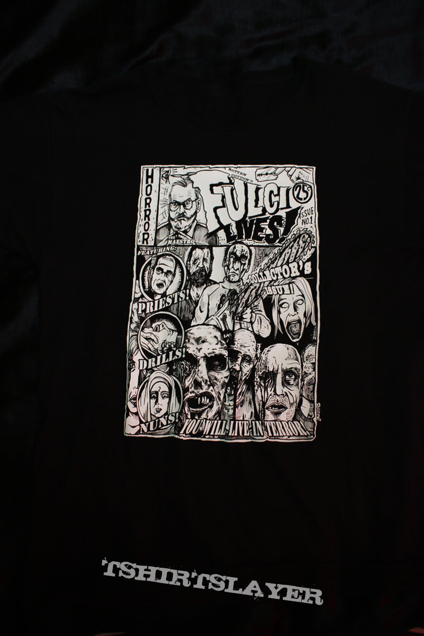 Rotten Cotton - Original Lucio Fulci Tribute Shirt - Fulci Lives! (25 Years Edition)