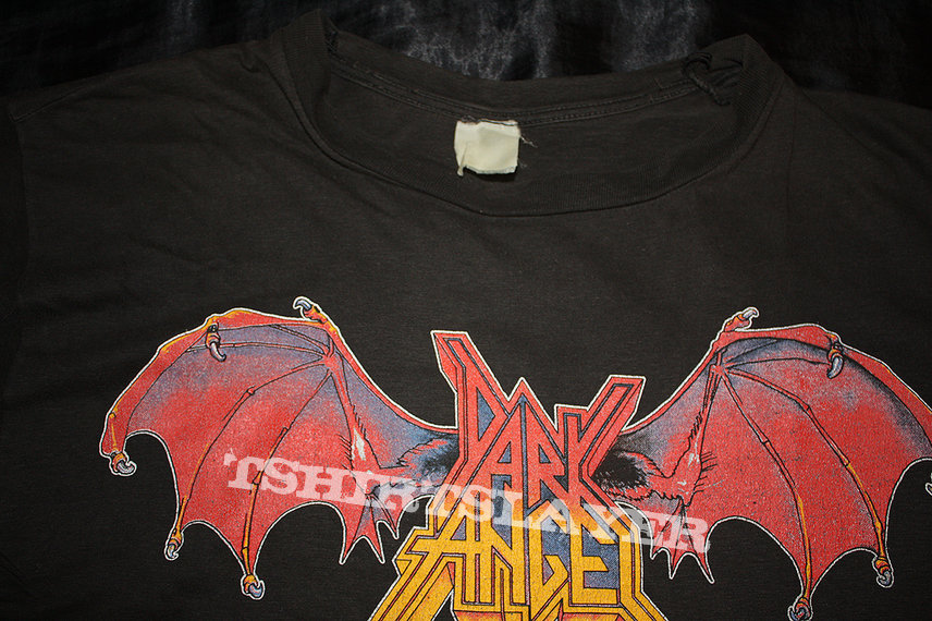 DARK ANGEL - The L.A. Caffeine Machine - Logo Shirt. Official two-sided T-Shirt from 1989 in Size L