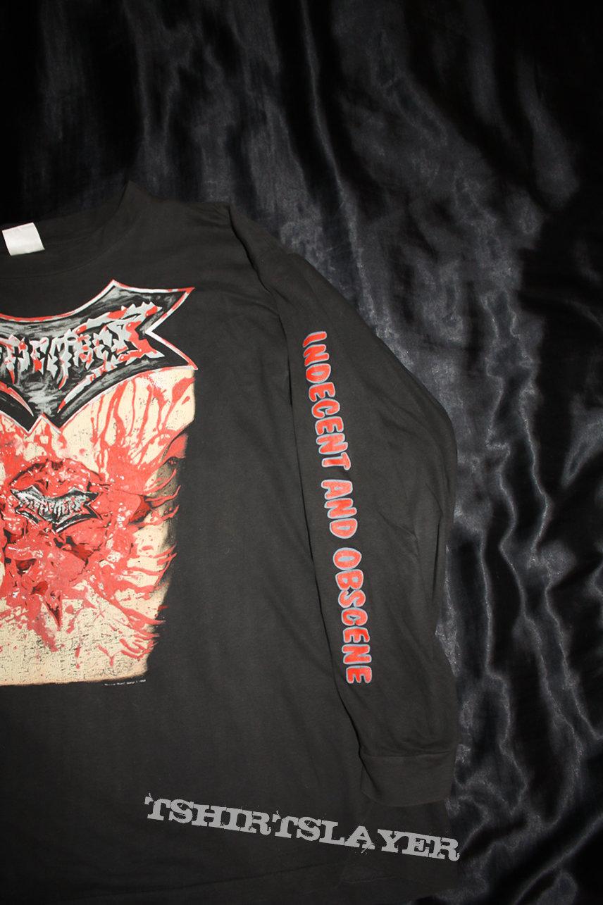 DISMEMBER - Indecent & Obscene - 1993 Offical Tour-Shirt Longsleeve (Size XL)