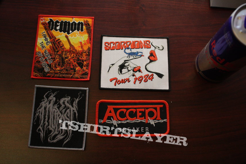 Original Patches - Accept, Scorpions, Demon, Morast - HQ Woven Patches made by Blood Division