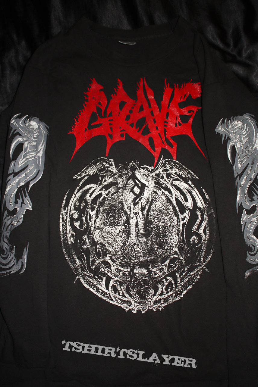 GRAVE - ...And Here I Die...Satisfied - Official Tourshirt Longsleeve from 1993 - Size XL