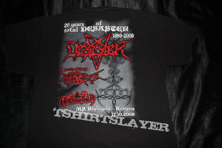 DESASTER - 20 Years Anniversary Festival - Official Limited Tour Shirt from 2009 - Size XL