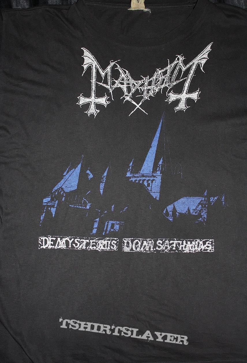 MAYHEM - De Mysteriies Dom Sathanas - Official Shirt from 1993 (Size M)