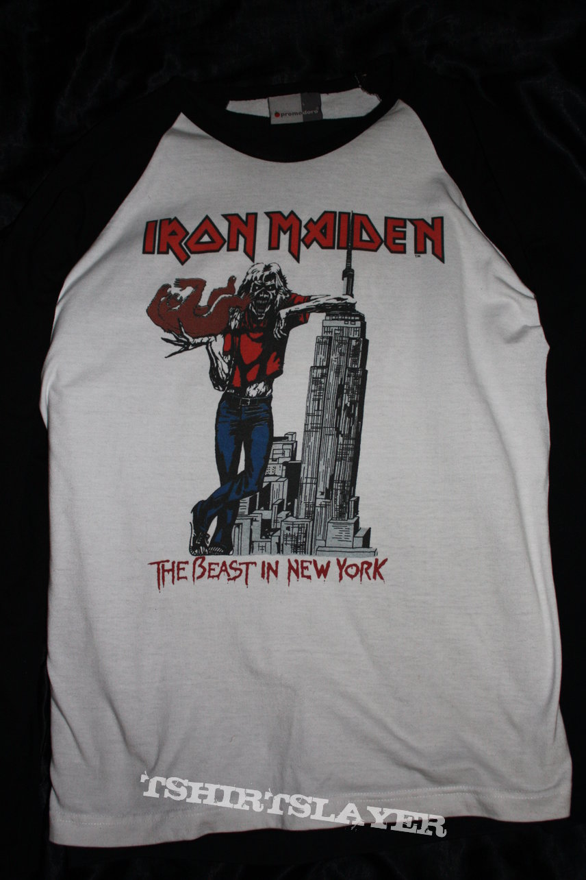 IRON MAIDEN - The Beast in New York 1982 - Original & Official Raglan Longsleeve - Size L