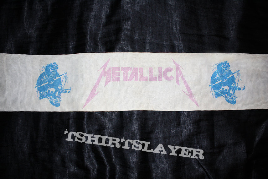 METALLICA - Damaged Justice - Original Scarf from Official Merch - 1988