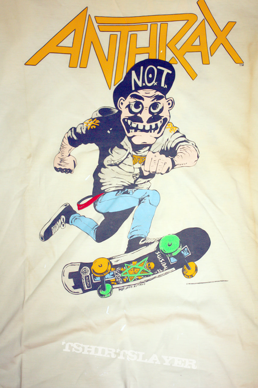 ANTHRAX - Skater Guy / Mosh it up! - Original Shirt from 1987 (Size L)