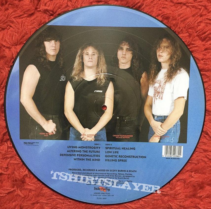 Death spiritual healing picture disc vinyl 1990