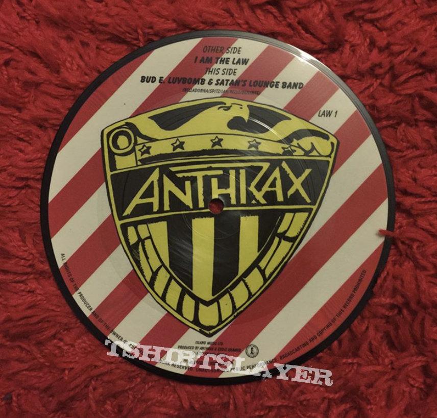 Anthrax I am the law single 1987 vinyl