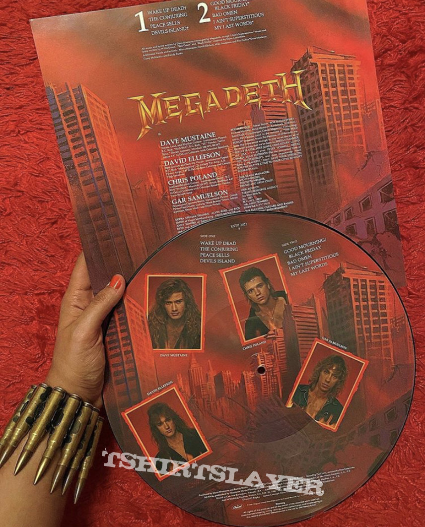 Megadeth peace sells but who's buying picture disc 1986