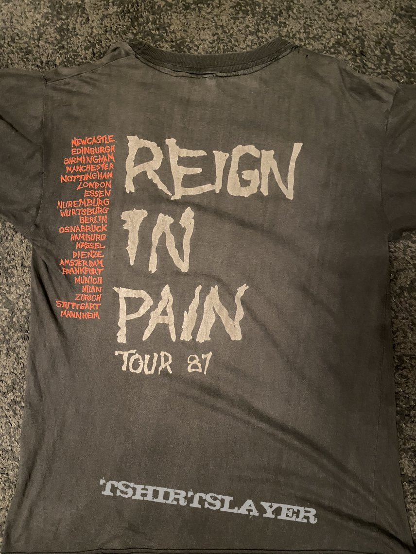 Slayer reign in pain shirt 1987