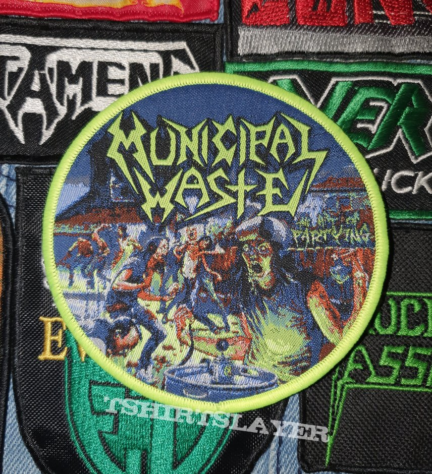 Municipal Waste The Art Of Partying Patch (Yellow Border)