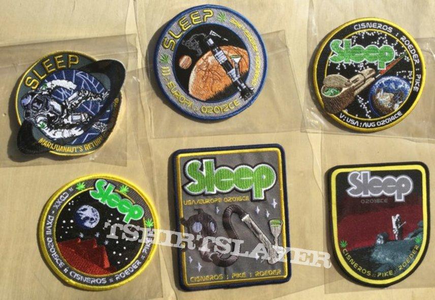 SLEEP STONER//DOOM METAL EMBROIDERED BACK PATCH