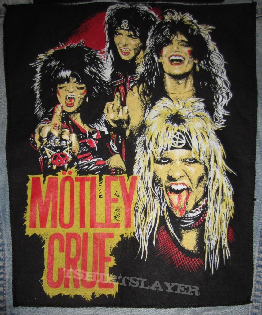 Motley Crue Vintage Backpatch 1983 Tshirtslayer Tshirt