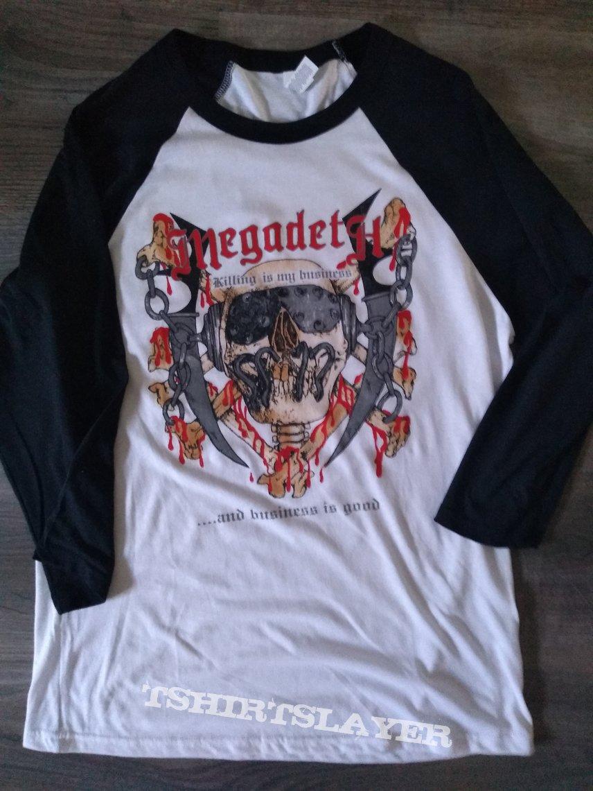 Megadeth Killing is my Business 2020 raglan