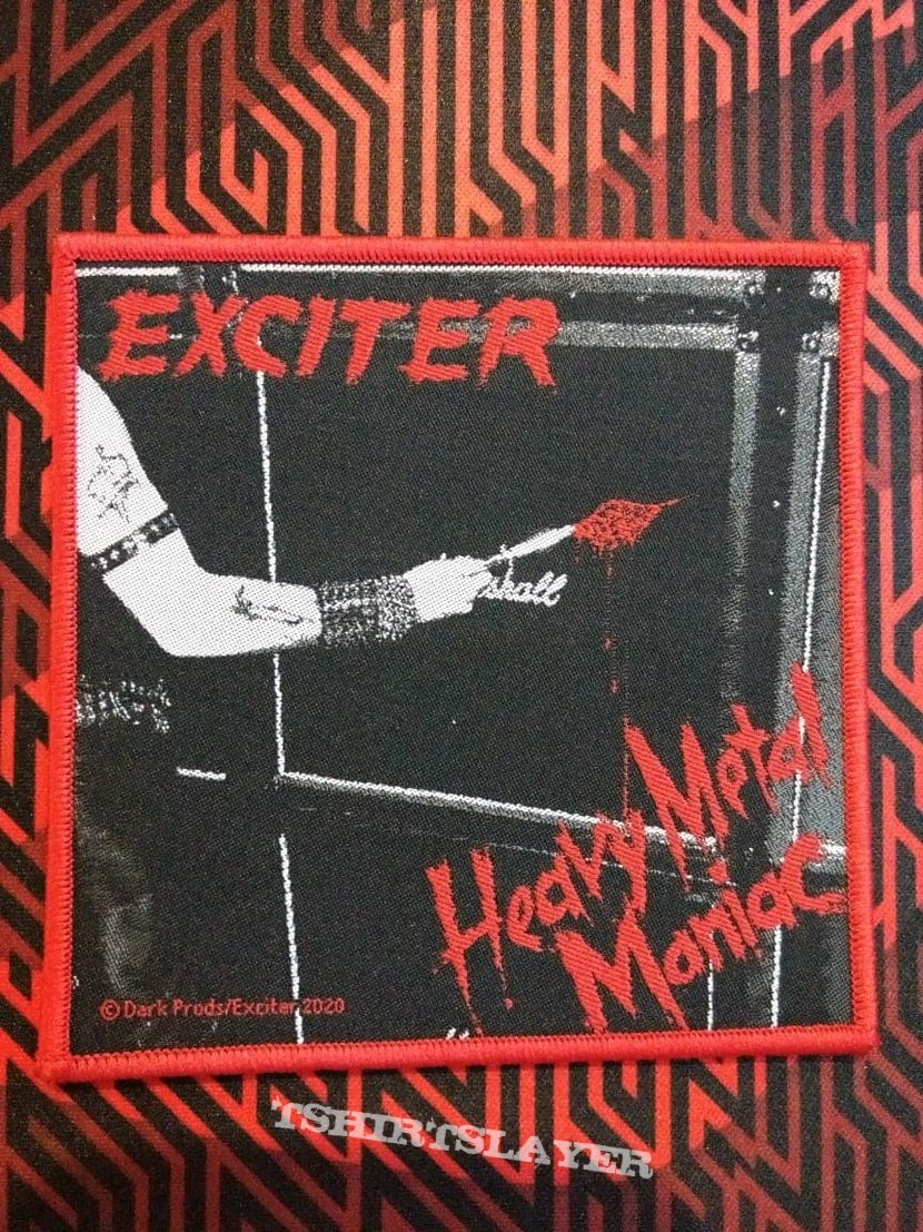 Exciter-Heavy metal maniac (woven patch)