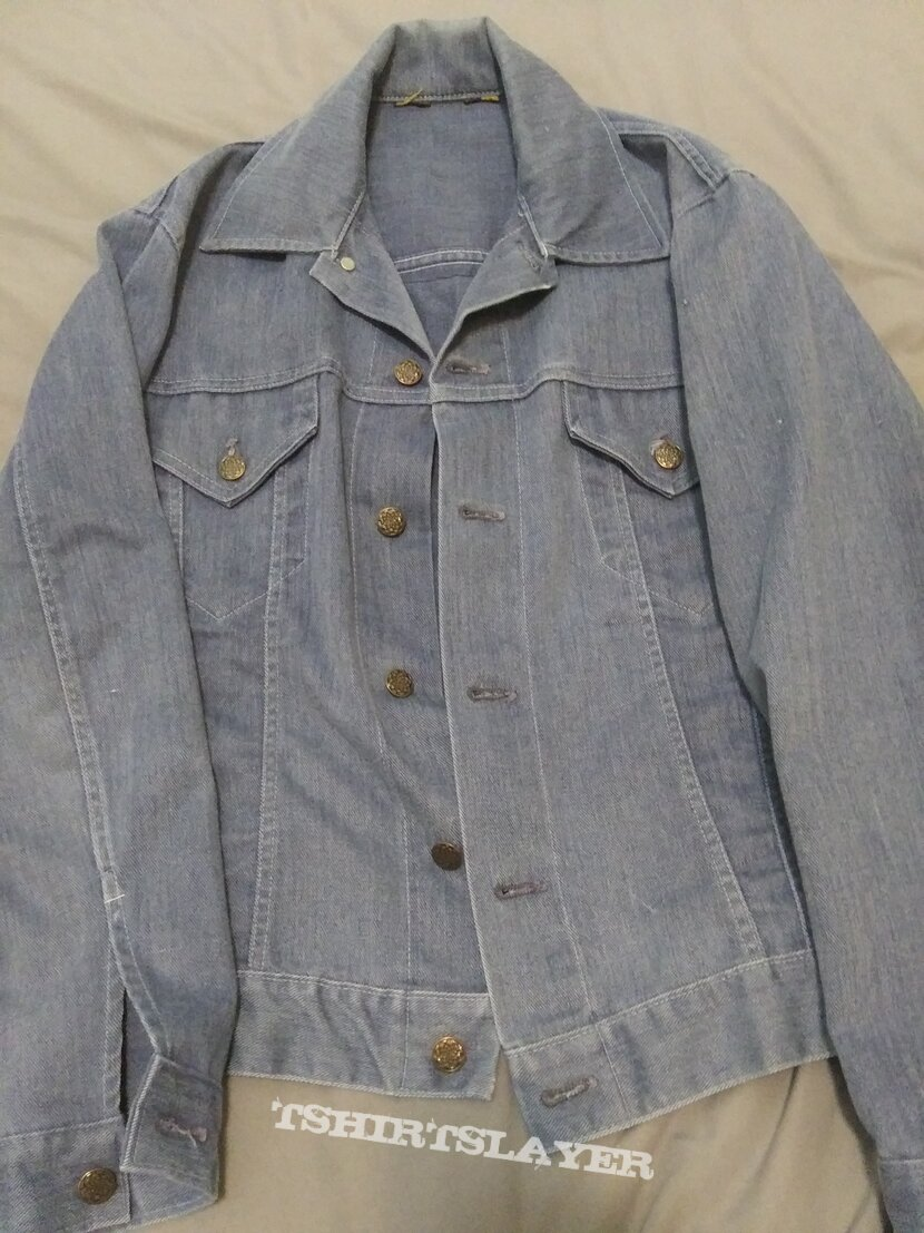 70s denim with led zeppelin back patch