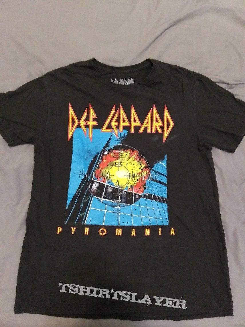 Def leppard- pyromania/hysteria tour shirt reprint