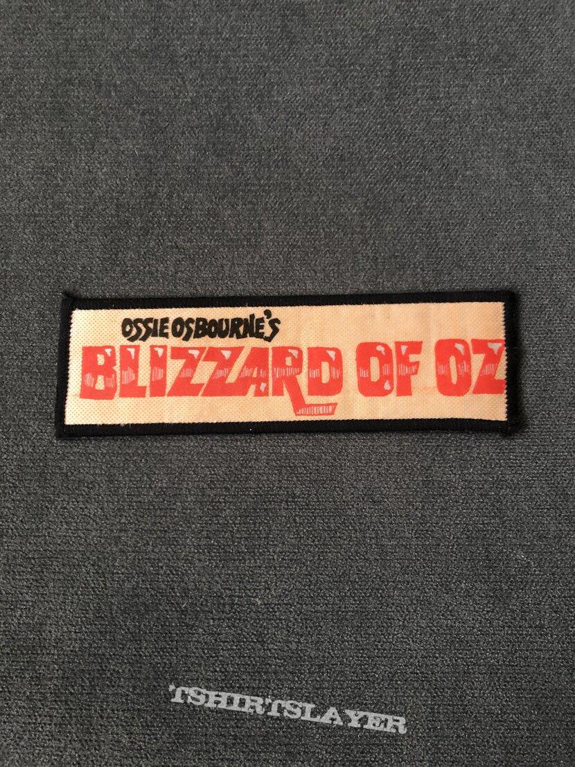 Ozzy Osbourne Ossie Osbourne's Blizzard of Oz patch