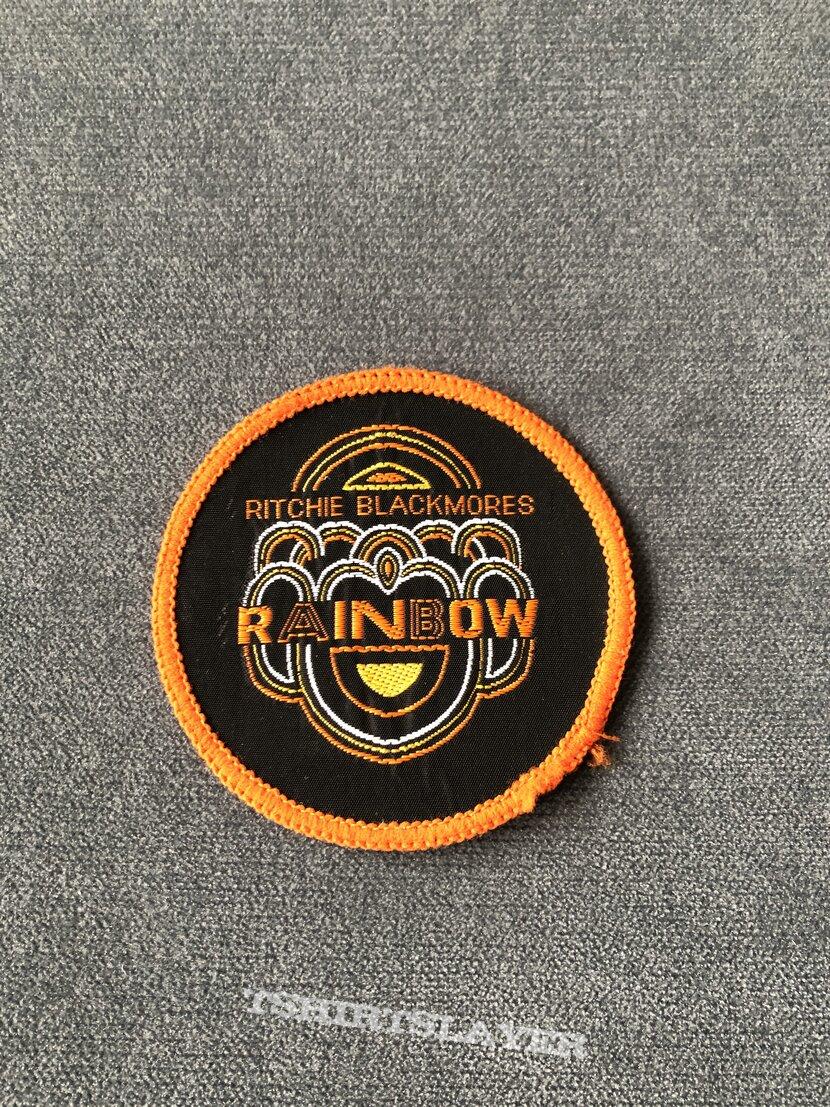 Rainbow Ritchie Blackmore's Rainbow logo orange border patch