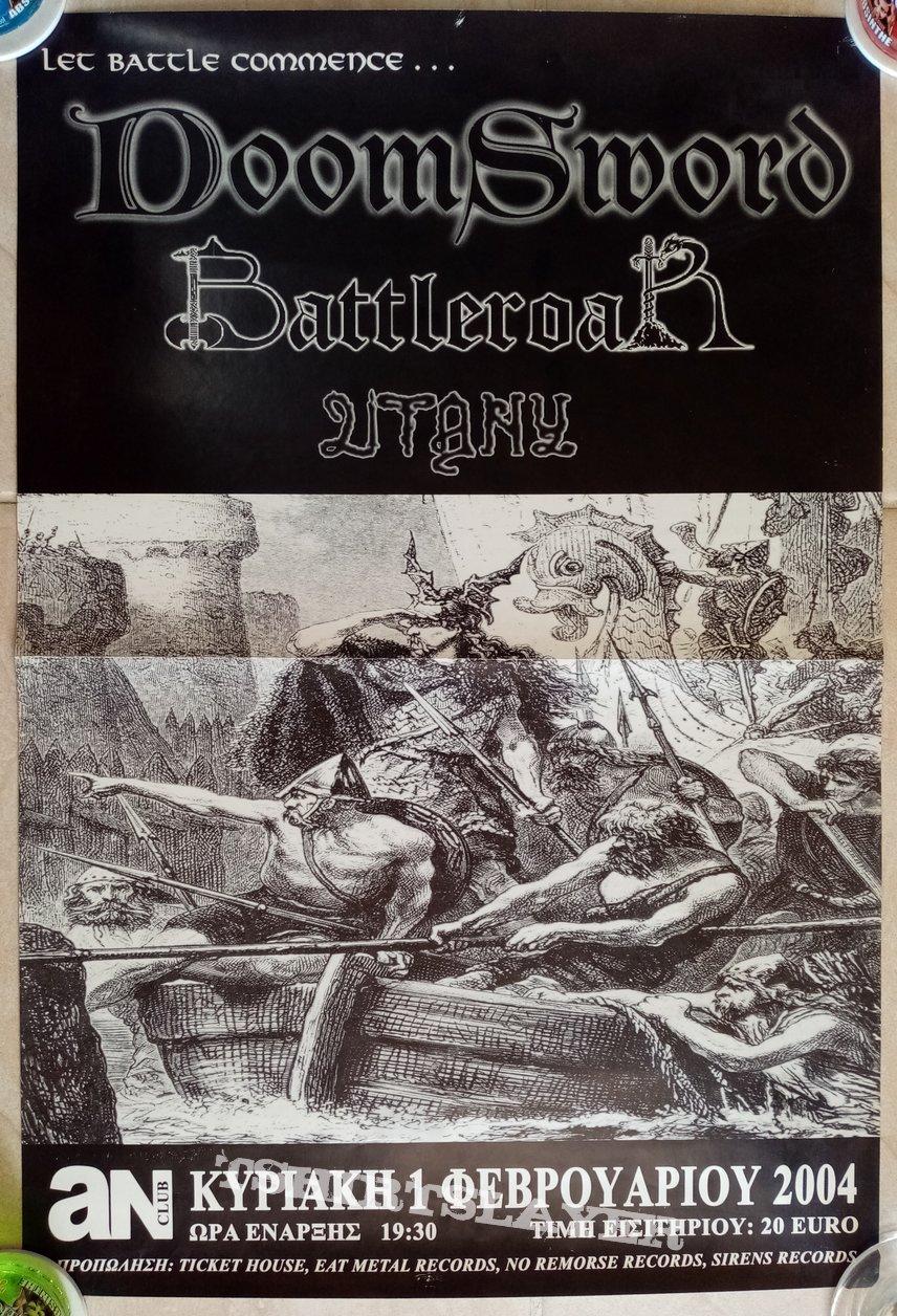 Doomsword Battleroar Litany - 01.02.2004 Official Concert Poster