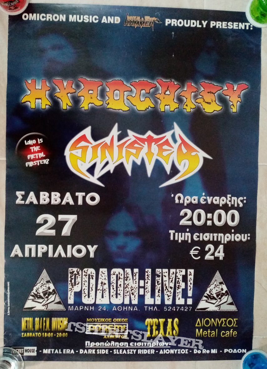 Hypocrisy Sinister - 27.04.? Official Concert Poster