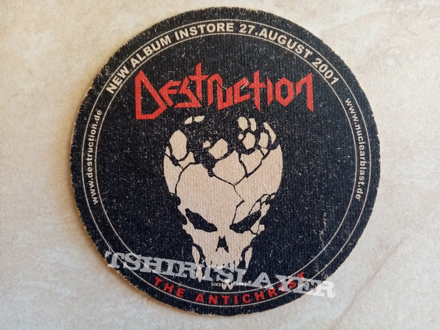 Destruction The Antichrist Grave Digger The Grave Digger - 2002 Official Promotional Beer Mat