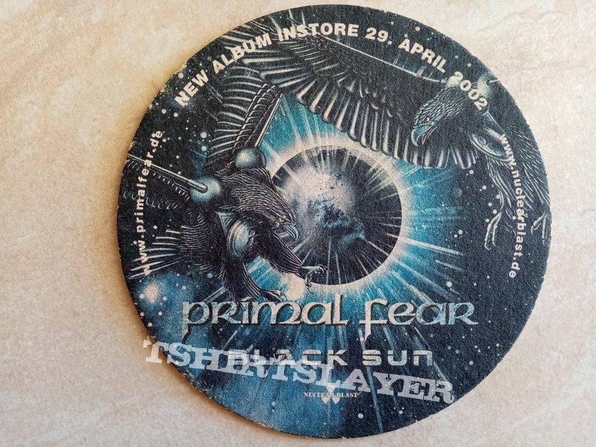Dimmu Borgir World Misanthropy Primal Fear Black Sun - 2002 Official Promotional Beer Mat
