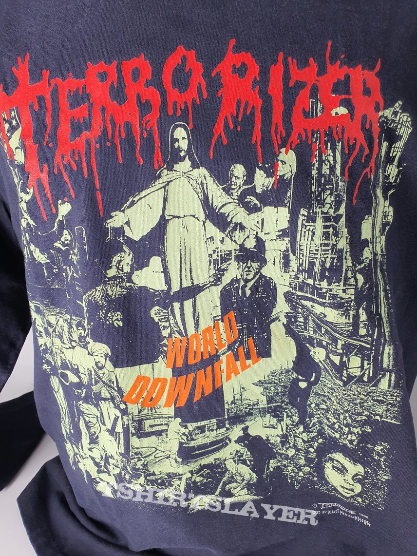 "Long sleeve terrorizer ""world down fall"""