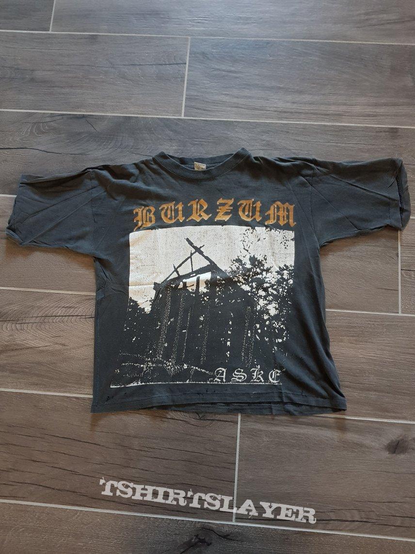 Burzum Aske golden logo 90s shirt