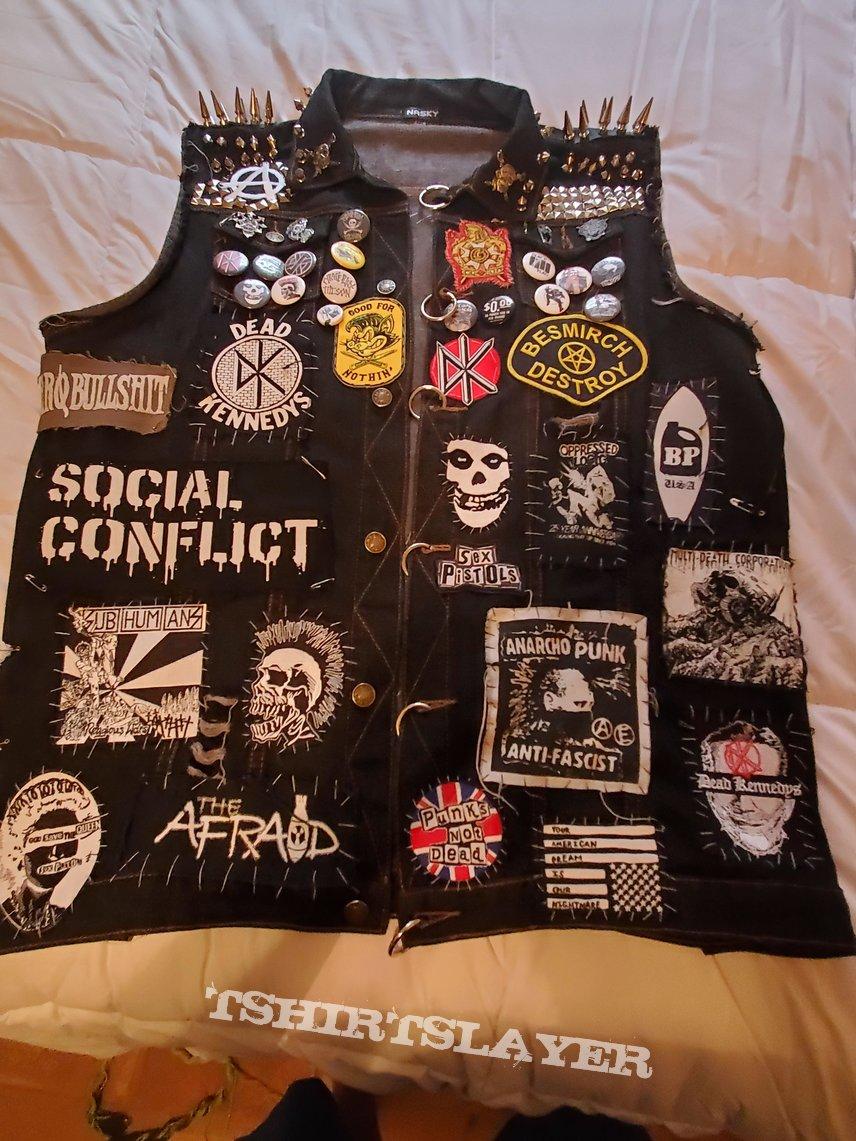 My punk rock battle vest