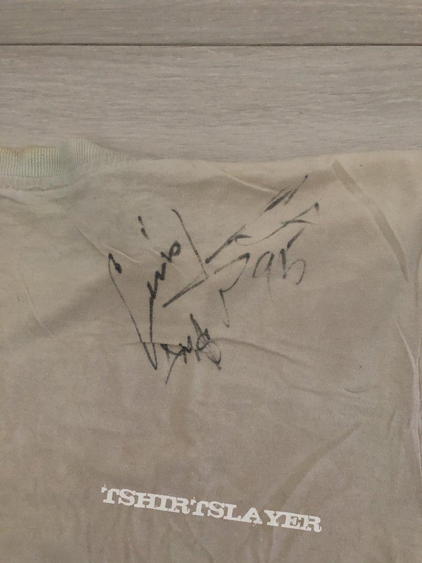 Biohazard shirt DOA 1995 with signatures