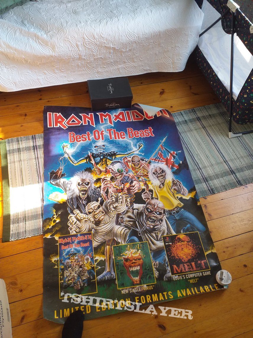 Iron Maiden best of the beast BIG promo poster