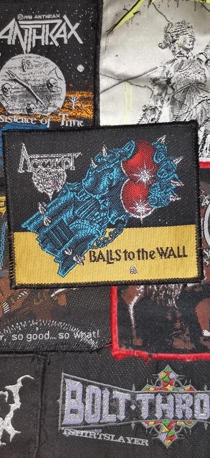 Accept Balls to the wall black border patch