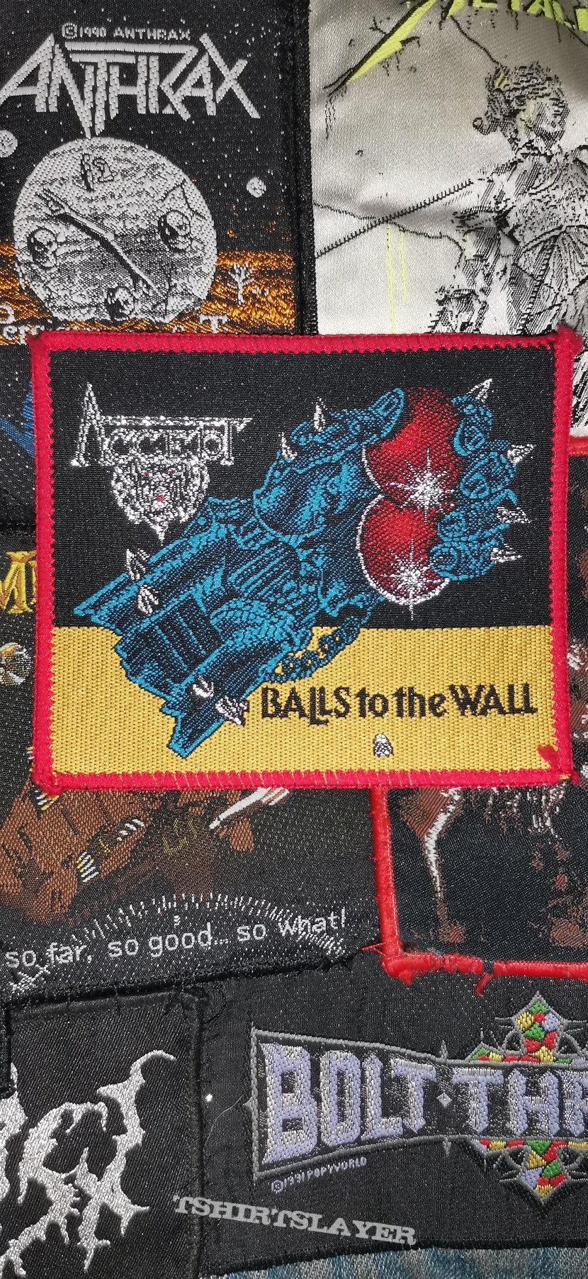 Accept Balls to the wall red border patch
