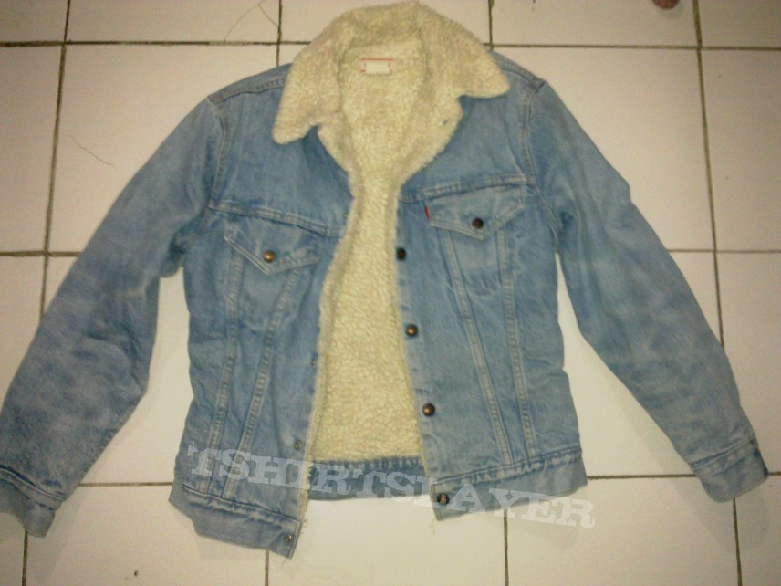 Battle Jacket - Levi's denim sherpa vintage jacket