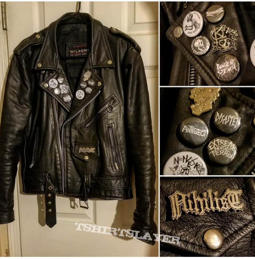Death metal/punk Leather jacket