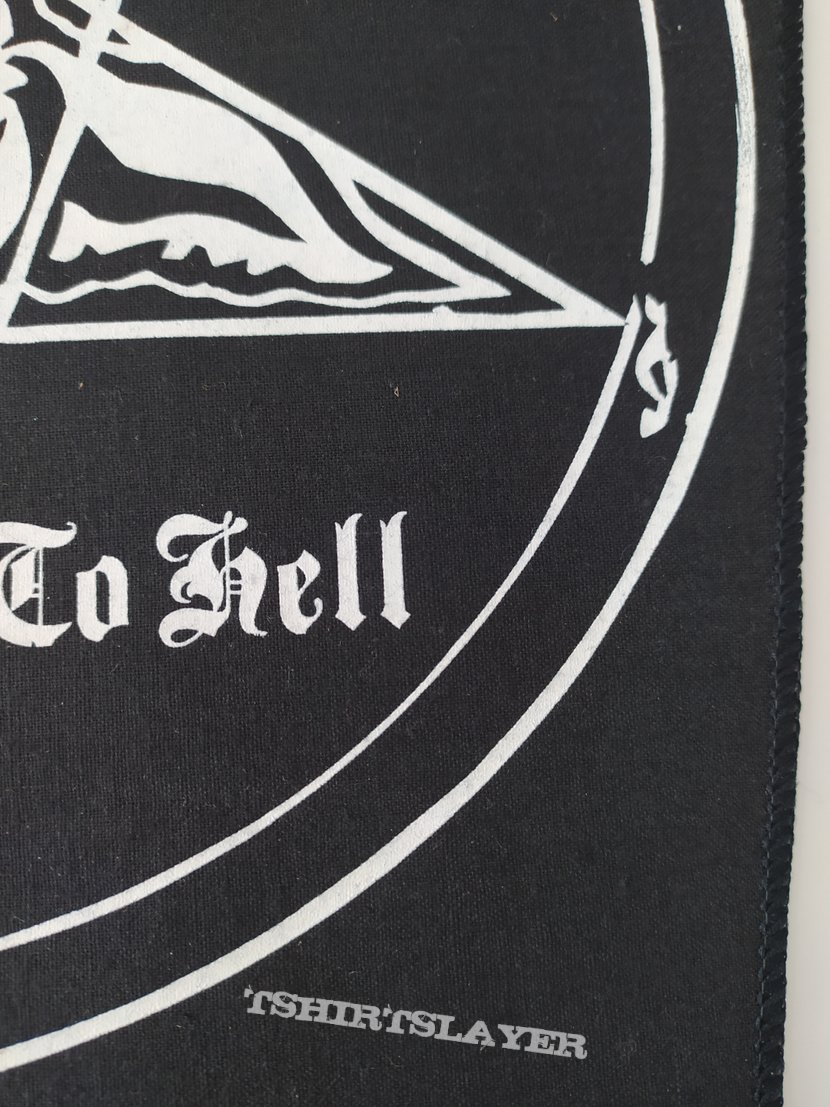 """Venom """"Welcome to Hell"""" backpatch"""