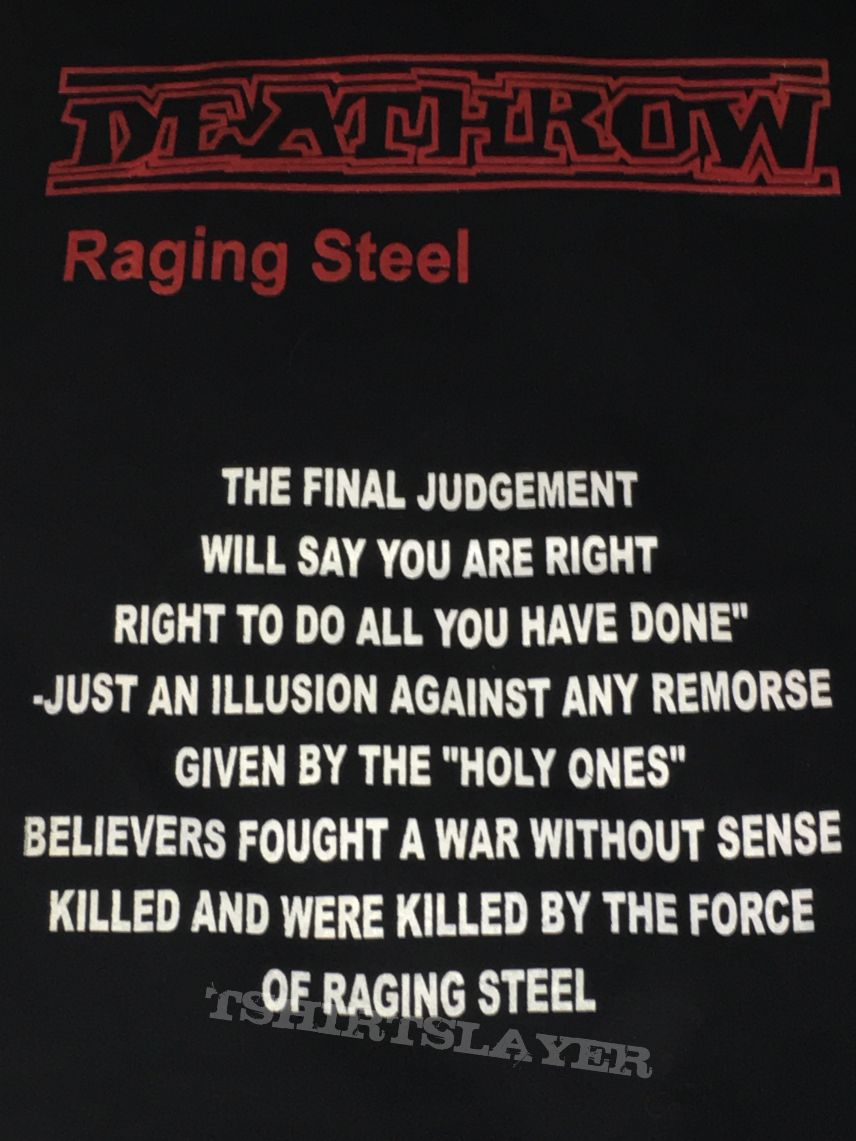 Deathrow - Raging Steel shirt #2