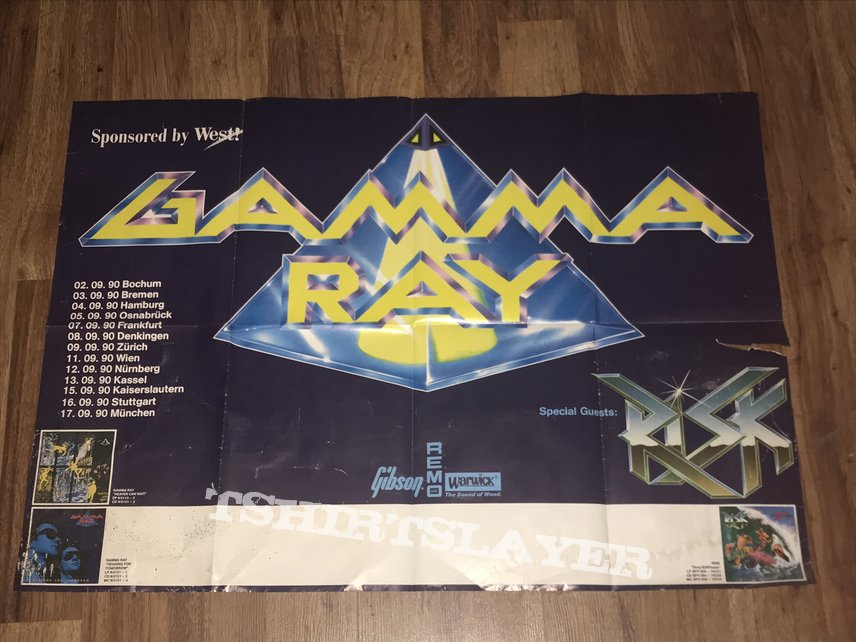 Gamma Ray - Headache For Tomorrow - 1990 - German Tour Poster
